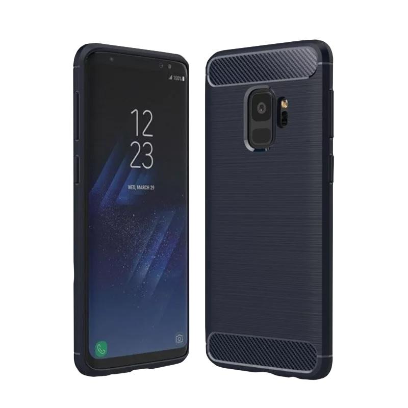 Silikónový kryt na Samsung Galaxy S9+ Carbon Blue