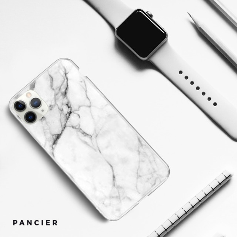 Silikónový kryt na iPhone 11 Pro Max White Marble