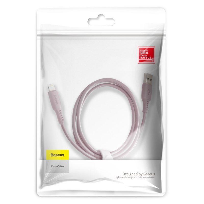 Kábel 2.4A Pink Lightning Baseus Colourful 120cm