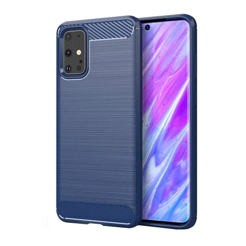Silikónový kryt na Samsung Galaxy S20 Carbon Blue