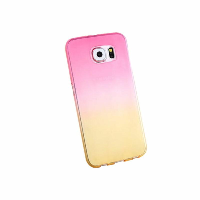 Silikónový kryt na Samsung Galaxy S6 Pink Yellow