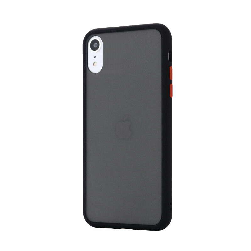 Silikónový kryt na iPhone XR Shockproof Black