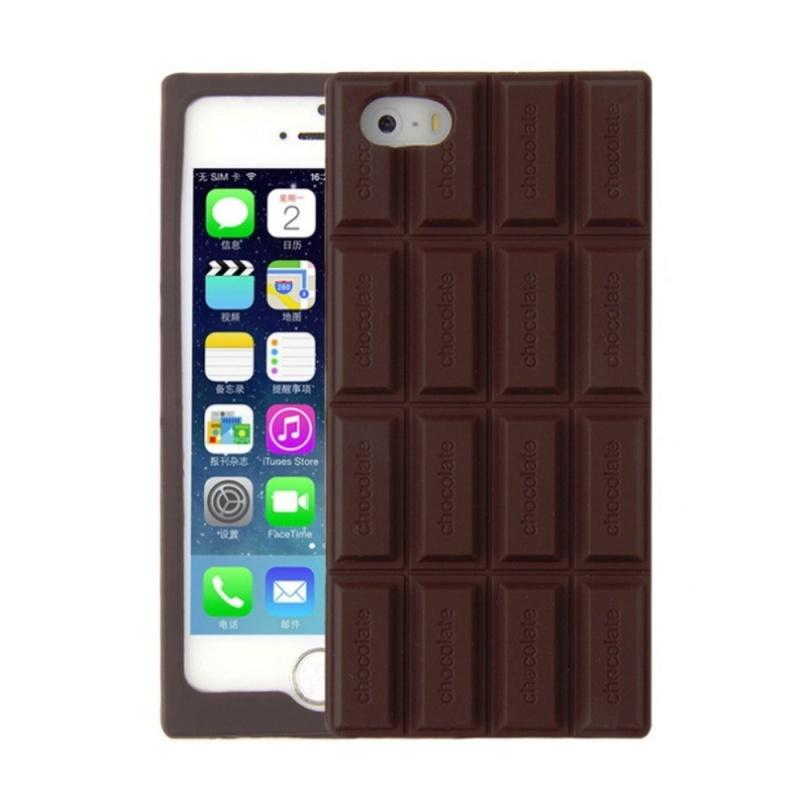 Silikónový 3D kryt na iPhone 5/5S/SE CHOCOLATE