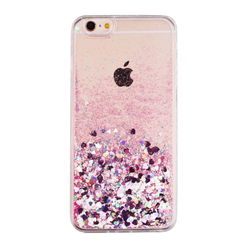 Silikónový kryt na iPhone 7/8/SE 2 presýpací Pink Hearts