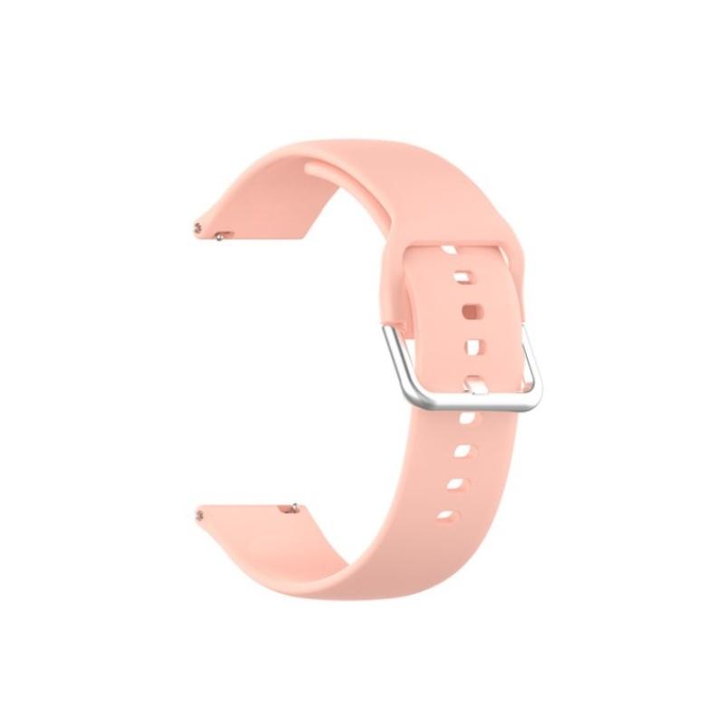 Remienok silikónový 20mm Ružový Slim