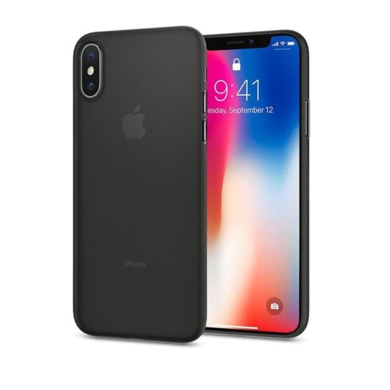 Ultra Tenký plastový kryt na iPhone X Čierný