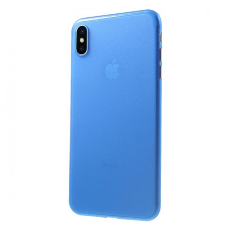 Ultra Tenký plastový kryt na iPhone X Modrý