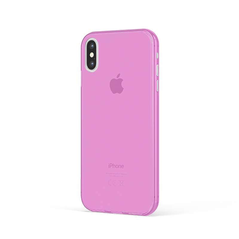 Ultra Tenký plastový kryt na iPhone X Ružový