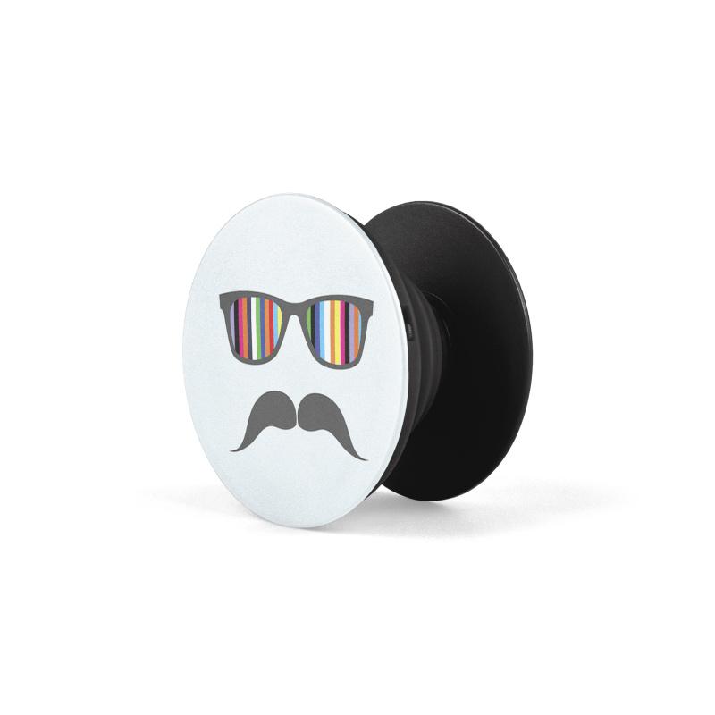 PopSocket Mustache Rainbow