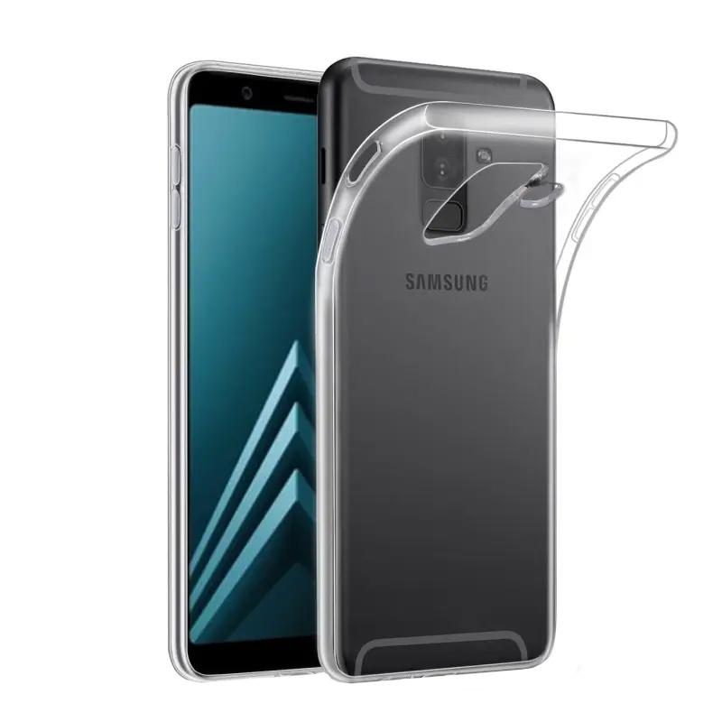 Silikónový kryt na Samsung Galaxy A6 2018 Priehľadný
