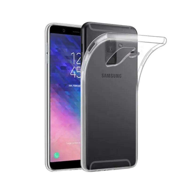 Silikónový kryt na Samsung Galaxy A6 Plus 2018 Priehľadný