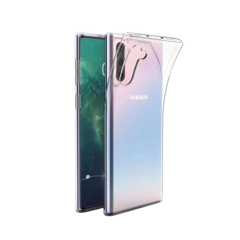 Silikónový kryt na Samsung Galaxy Note 10 Priehľadný