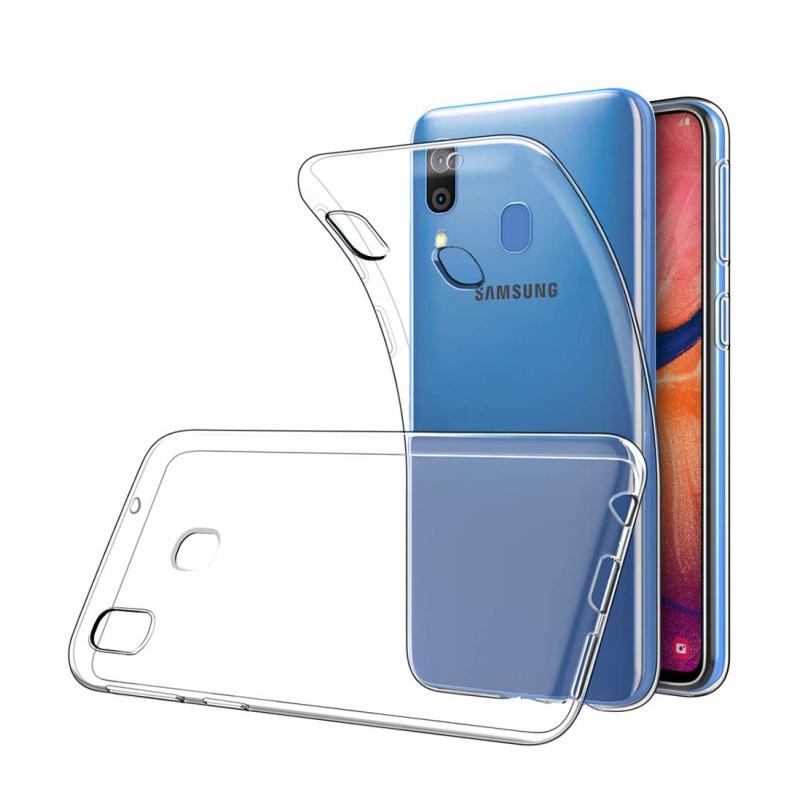 Silikónový kryt na Samsung Galaxy A20/A30 Priehľadný