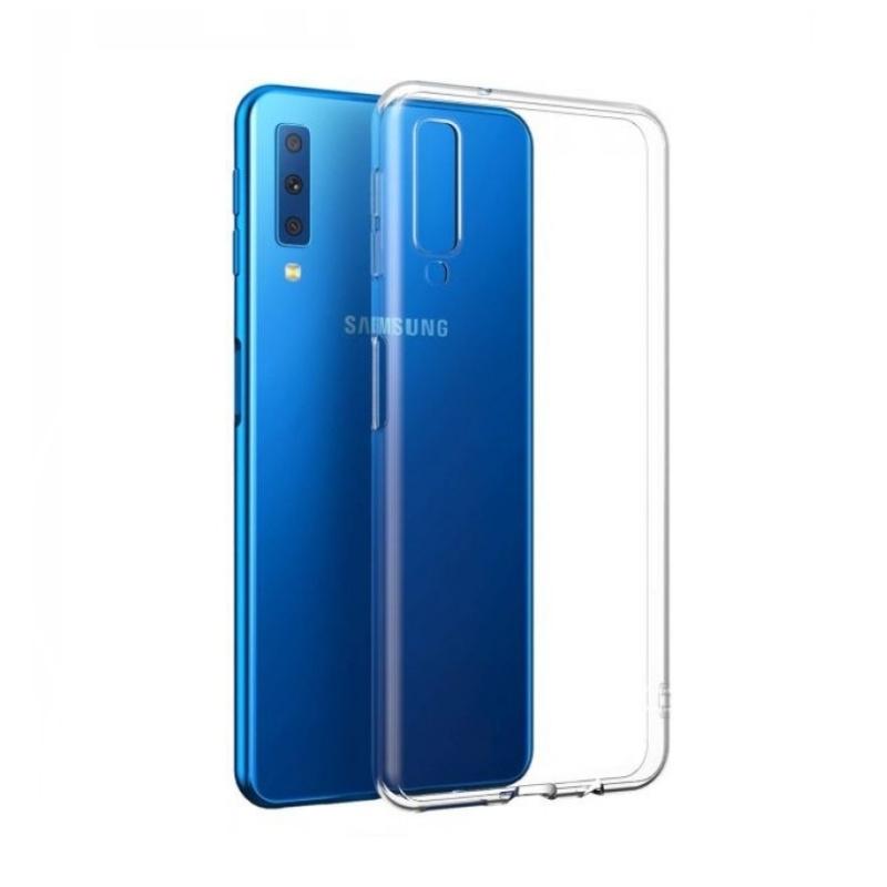 Silikónový kryt na Samsung Galaxy A7 2018 Priehľadný