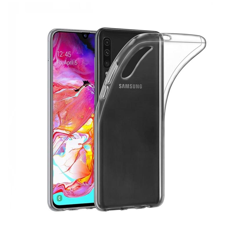 Silikónový kryt na Samsung Galaxy A70 Priehľadný