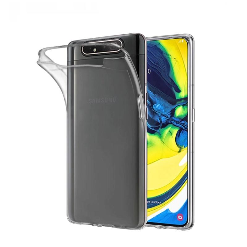 Silikónový kryt na Samsung Galaxy A80 Priehľadný