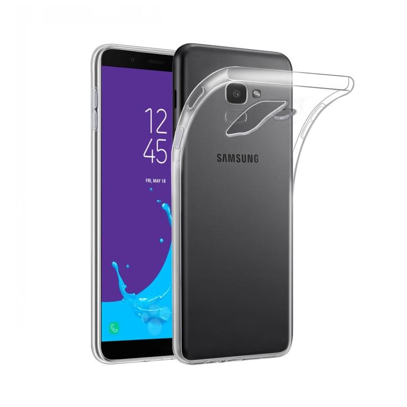 Silikónový kryt na Samsung Galaxy J6 2018 Priehľadný