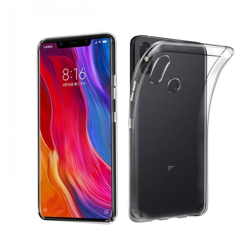 Silikónový kryt na Xiaomi MI 8 SE Priehľadný