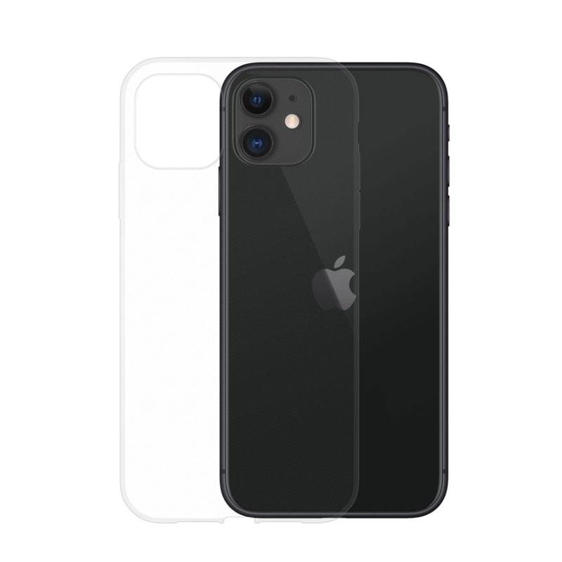 Silikónový kryt na iPhone 11 Priehľadný