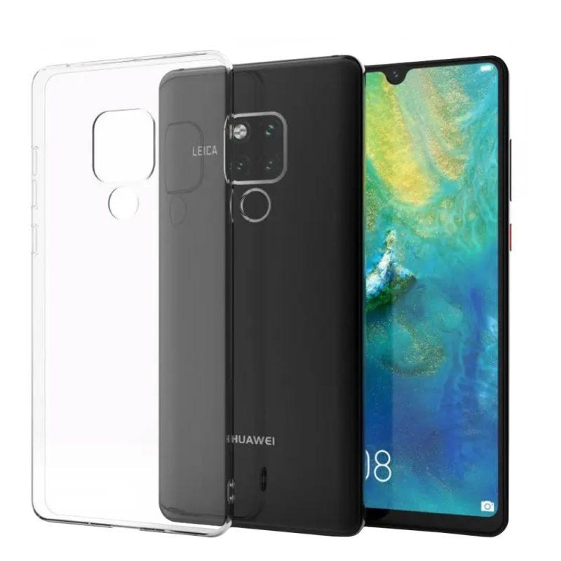 Silikónový kryt na Huawei Mate 20 Priehľadný