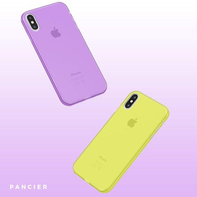 Ultra Tenký plastový kryt na iPhone X Žltý
