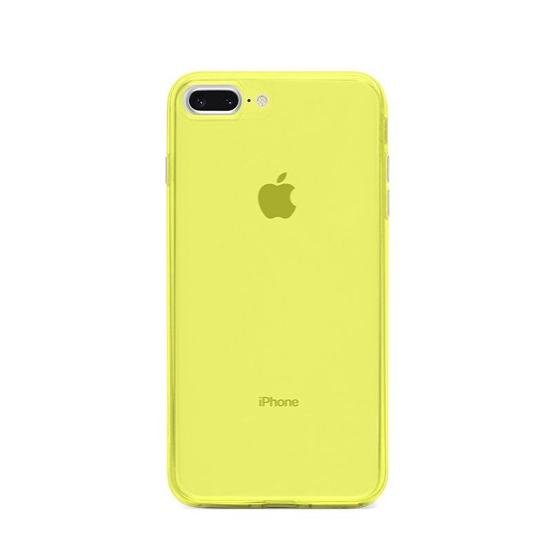 Ultra Tenký plastový kryt na iPhone 7/8 Plus Žltý