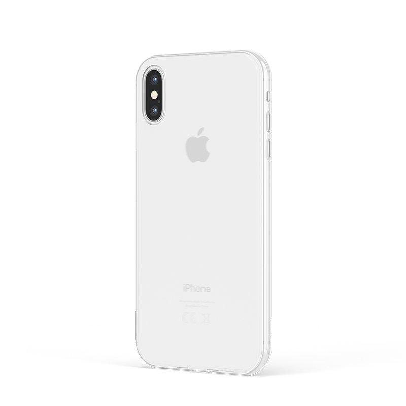 Ultra Tenký plastový kryt na iPhone XS Biely