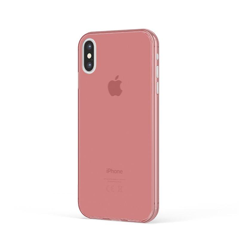 Ultra Tenký plastový kryt na iPhone XS Červený