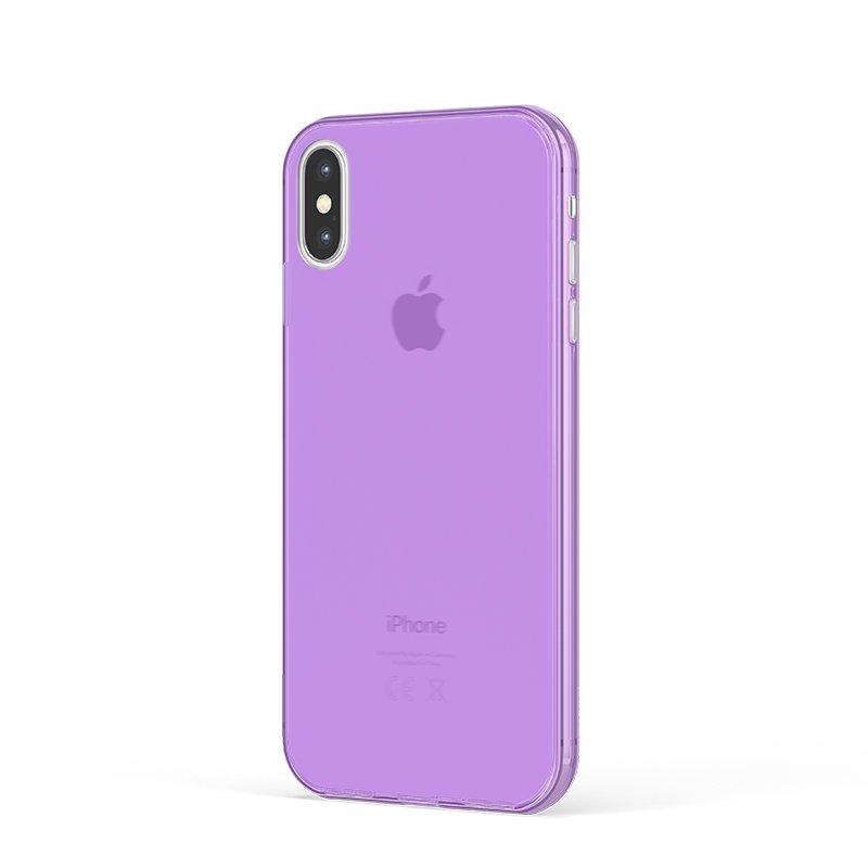 Ultra Tenký plastový kryt na iPhone X Fialový
