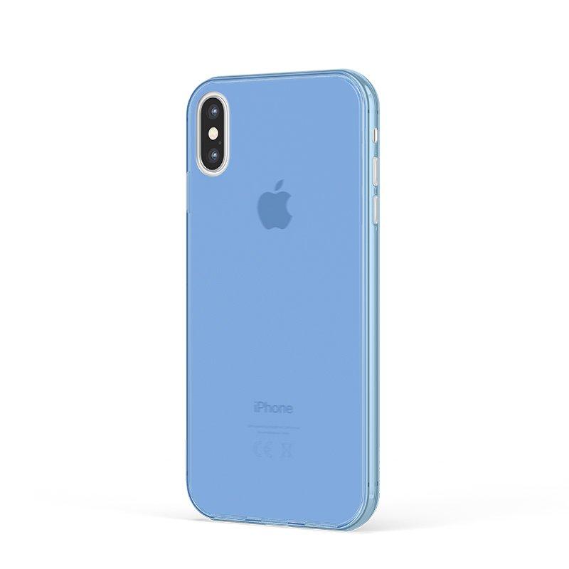 Ultra Tenký plastový kryt na iPhone XS Modrý
