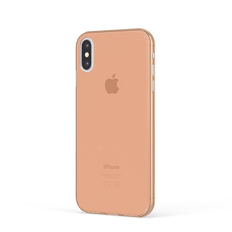 Ultra Tenký plastový kryt na iPhone X Oranžový