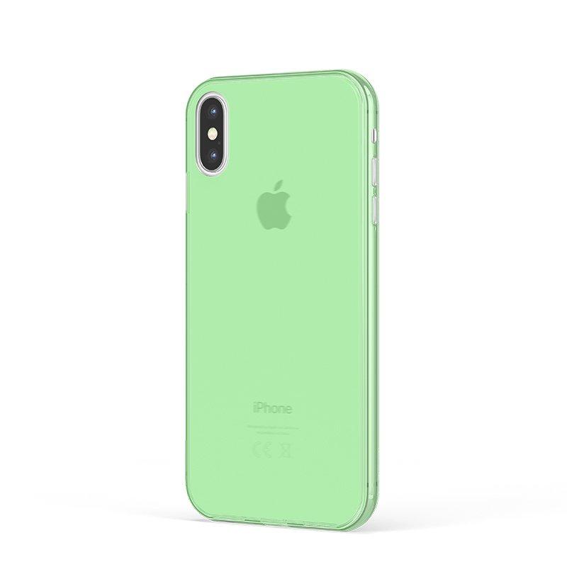 Ultra Tenký plastový kryt na iPhone X Zelený