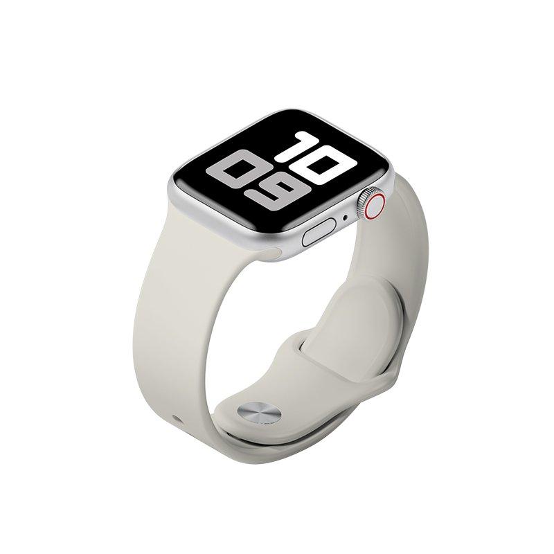 Remienok na Apple Watch 38mm/40mm M/L silikónový Sivý