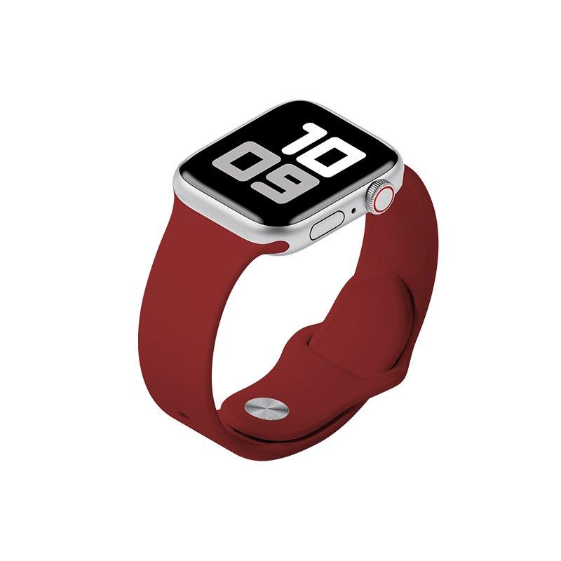 Remienok na Apple Watch 42mm/44mm S/M silikónový Červený