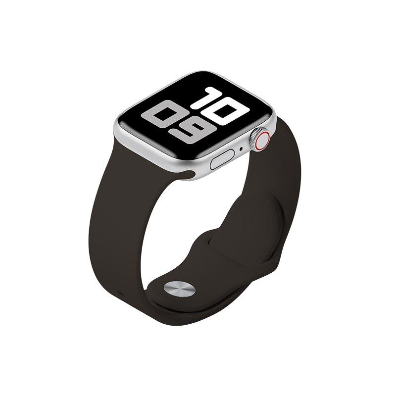 Remienok na Apple Watch 38mm/40mm M/L silikónový Hnedý