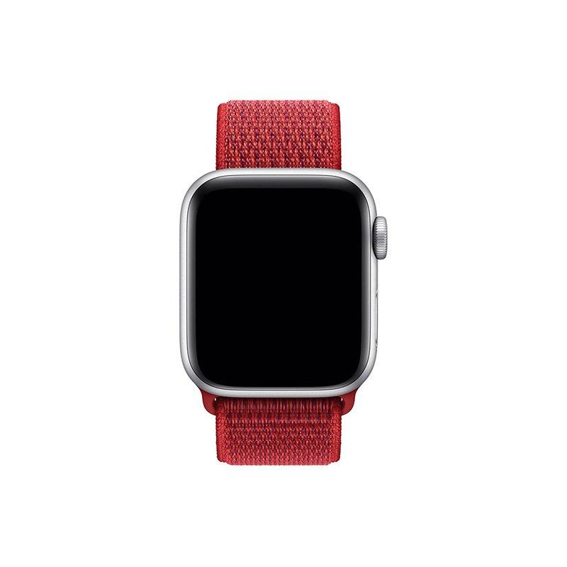 Remienok na Apple Watch 42mm/44mm látkový Red