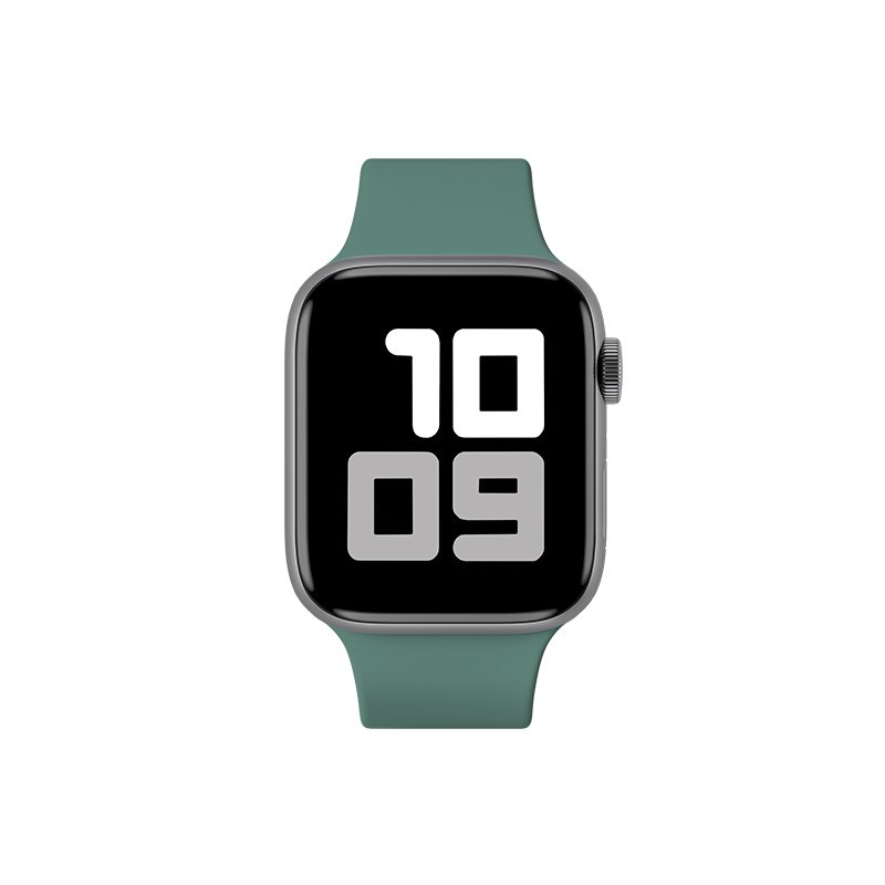 Remienok na Apple Watch 38mm/40mm S/M silikónový tmavozelený