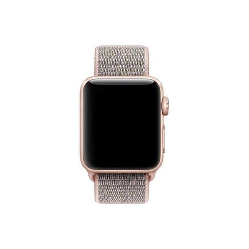 Remienok na Apple Watch 38mm/40mm látkový Pink Sand