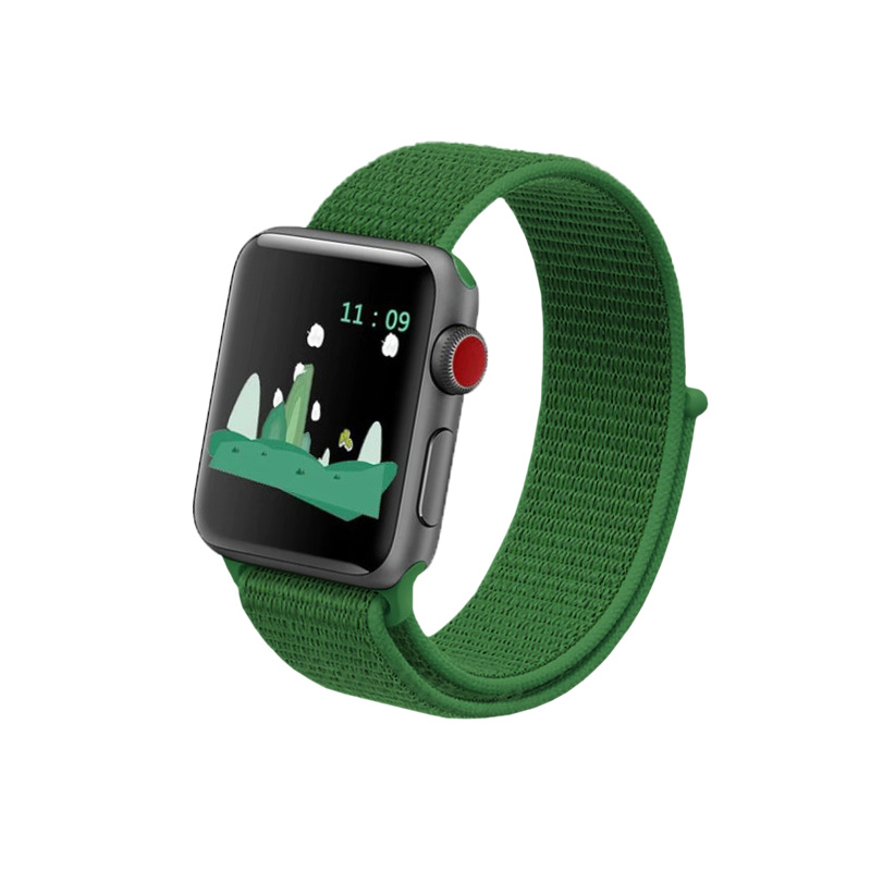 Remienok na Apple Watch 42mm/44mm látkový zelený