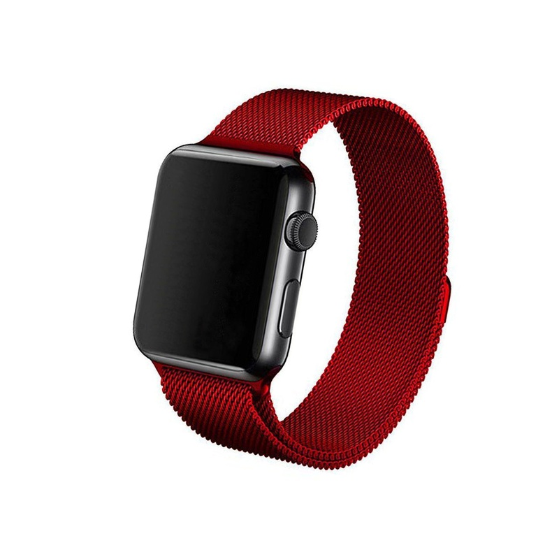 Remienok na Apple Watch 38mm/40mm Milanese červený