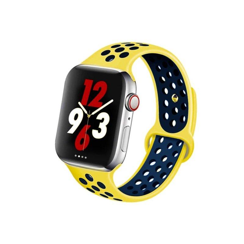 Remienok na Apple Watch 42mm/44mm sport žlto-modrý