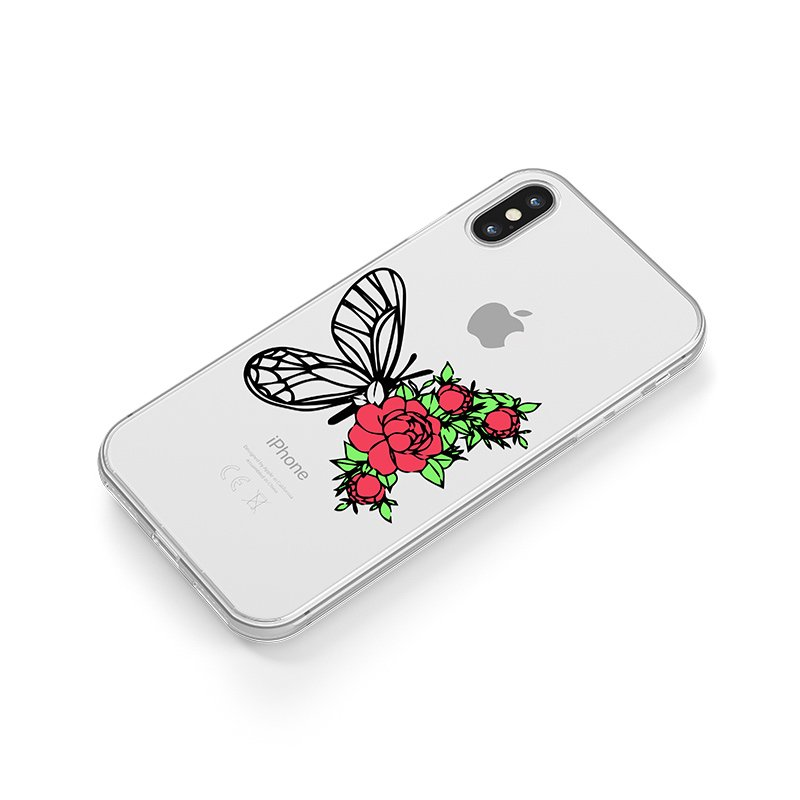 Buterfly with roses kryt na iPhone