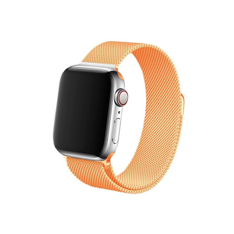 Remienok na Apple Watch 42mm/44mm Milanese oranžový