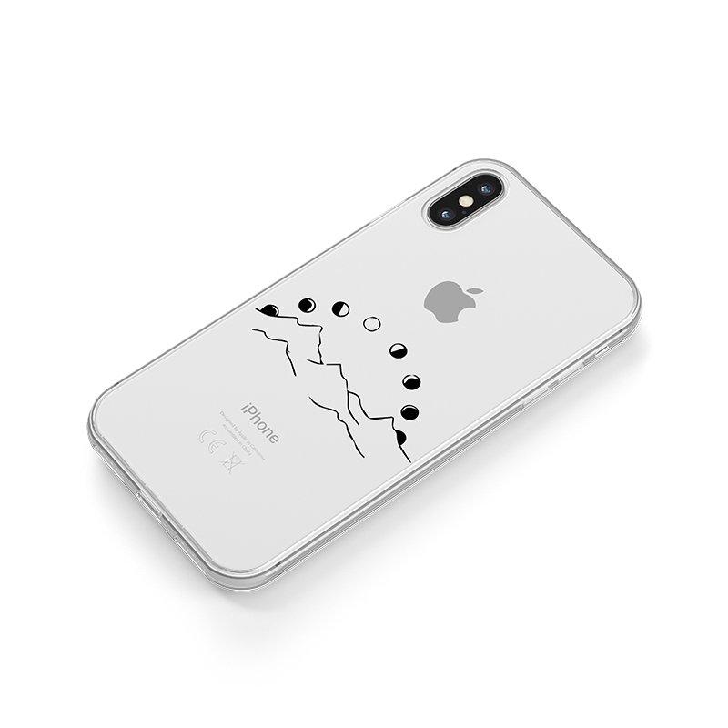 Mesačné fázy nad horami kryt na iPhone