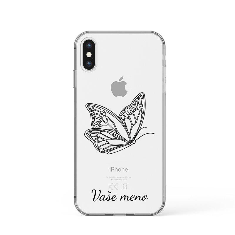Motýľ s menom kryt na iPhone zelený