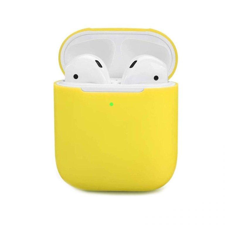Obal na AirPods silikónový Žltý