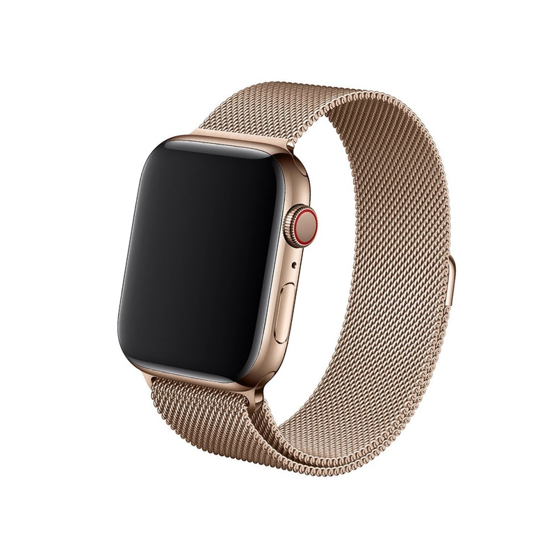 Remienok na Apple Watch 38mm/40mm Milanese ružovo-zlatý