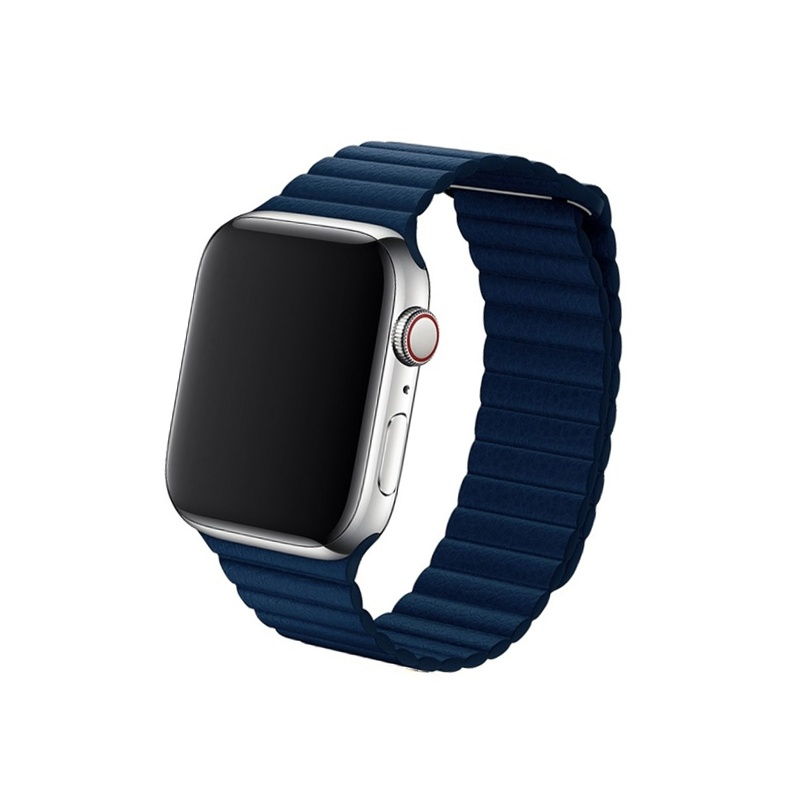 Remienok Leather Loop na Apple Watch 42mm/44mm námornícka modrá