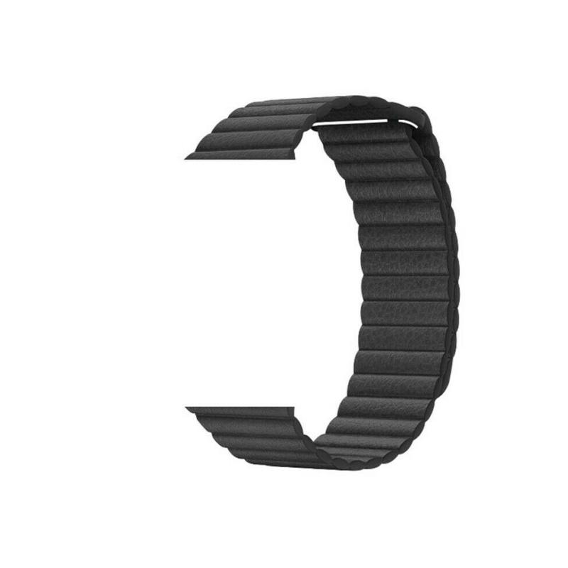 Remienok Leather Loop na Apple Watch 38mm/40mm čierny