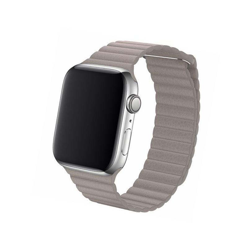 Remienok Leather Loop na Apple Watch 38mm/40mm khaki